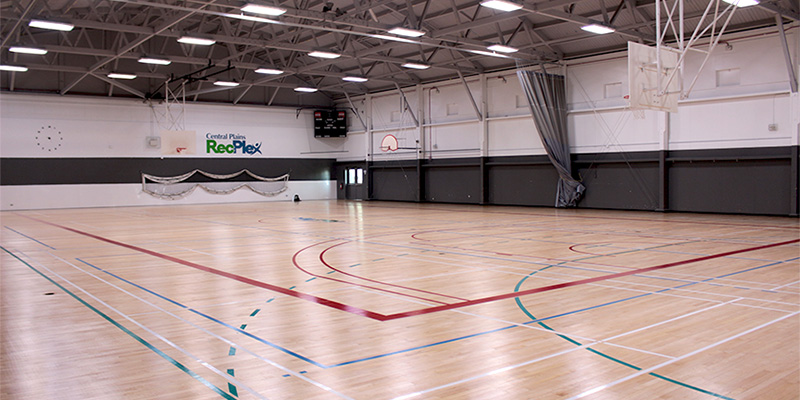 Central Plains RecPlex gymnasium