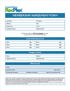 RecPlex Membership Agreement